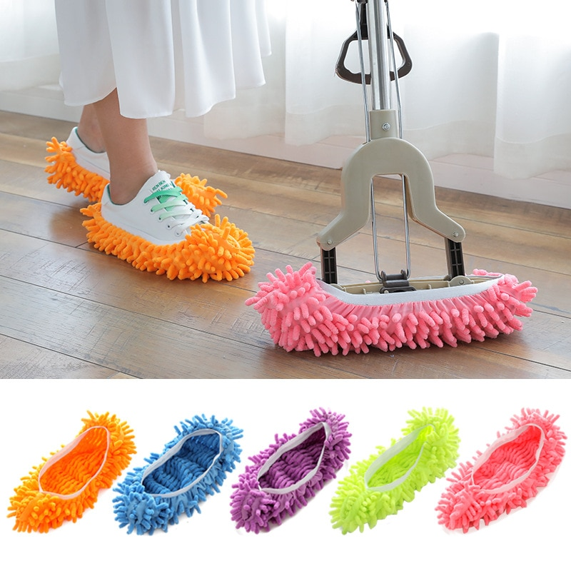Microfiber Slippers for Cleaning Floor