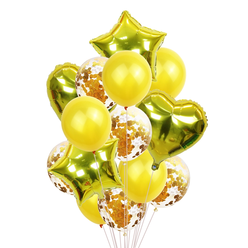 Balloons with Confetti for Party Decoration
