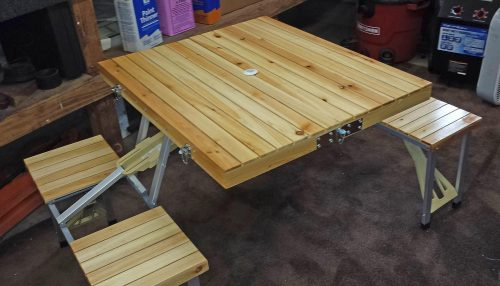 Camping Picnic Table with Seats Free Shipping photo review
